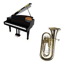 Tuba/Euphonium/Saxhorn et piano