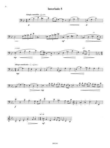 Cinq interludes pour le cor grave