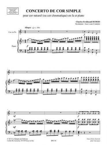 Concerto de cor simple
