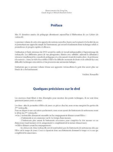 Les Cahiers du violoncelle volume 1