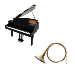 Trompe de chasse et piano